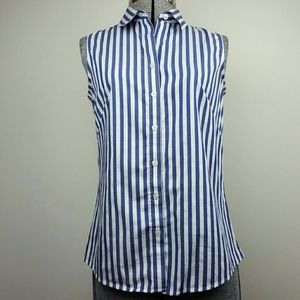 Blue and White Banana Republic Top.